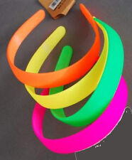 """NEON Hard HEADBANDS 4 styles 4-6 colors Hearts Flowers Smooth 2"""" 1/2"""" Hair pick"""