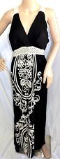 Just Love Women Plus Size 3x Bohemian Maxi Long Black Ivory Floral Dress