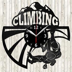Climbing Vinyl Record Wall Clock Decor Handmade 2232