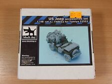 NEW IN BOX BLACK DOG1:48 SCALE US JEEP ACCESSORIES SET TAMIYA T48032
