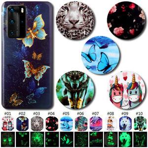 Cute TPU Luminous Soft Cover Painted Case Skin For Huawei P20 P30 Pro P40 Lite E