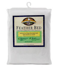 Pacific Coast Pure Cotton Feather Bed Protector with Zippered Closure
