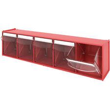 5 Compartment TILT BIN, Tilting box Workshop / Van Storage, plastic parts bin
