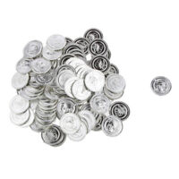 Toy Plastic Money Silver Coins 100 Count Bag, Pirates Loot