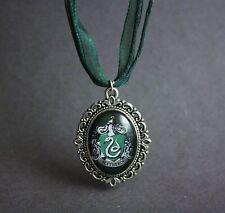 Harry Potter Slytherin Crest Necklace Hogwarts House Pendant