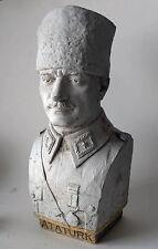 Mustafa Kemal Pasja, Atatürk heavy stone sculpture RARE