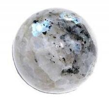 White Rainbow Peacock Moonstone Healing Sphere Ball Crystal Gemstone 35-40 MM
