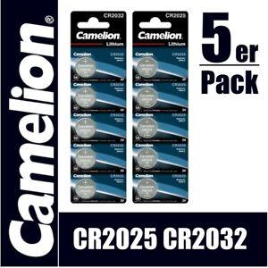Knopfzellen CAMELION CR2032 CR2025 Batterie Lithium 3V Blister frisches MHD 2028