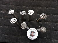 7 BESSIMER  & LAKE ERIE R.R..  DATE NAILS...0NE DATE NAILS COLLECTOR BUTTONS #7