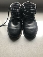 Mens Used Ecco Black Leather Goretex Boots Size 10