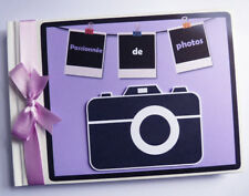 PERSONALISED CAMERA / PHOTO / PICTURES BIRTHDAY GUEST BOOK - ANY DESIGN