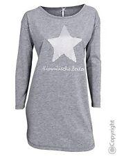 Louis & Louisa Sleepshirt Nachthemd Himmlische Zeiten Baumwollmisch Grau Neu  S