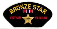 BRONZE STAR VIETNAM VETERAN  RIBBON MEDAL  EMBROIDERED MILITARY PATCH