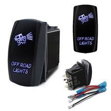 Car OFF ROAD LIGHTS On-Off Laser Etched Rocker Switch Control 5 Pin Blue LED 12V