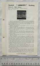 Vintage leaflet: Swedish Arkits Basketry - tray, oblong, 21