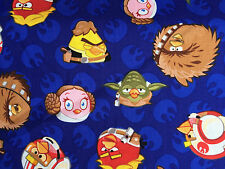 By 1/2 Yard Camelot Angry Birds Star Wars Fabric - Rebel Hero Leader Heads
