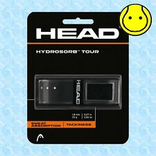 Head Hydrosorb Tour Black - Absorbing Tacky Replacement Tennis Grip