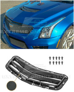 For 16-19 Cadillac ATS-V GM Factory Style CARBON FIBER Hood Vent Louver Cover