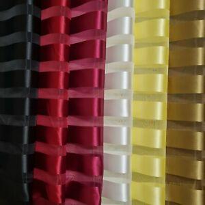 "Premium Satin Striped Organza Fabric Plain 55"" Wide Clothing, Crafts, Curtains"