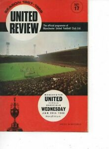 Manchester United v Sheffield Wednesday 1967/68 Division 1 complete with Token