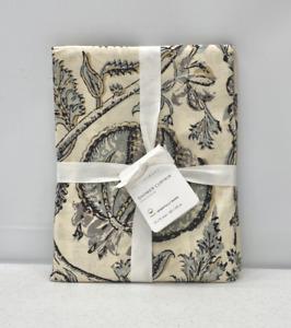 "NEW Pottery Barn Haylie Organic Cotton Shower Curtain~72""~Gray Multi"