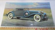 1933 Chrysler LeBaron Body Print Picture Laminated 12x23 Advertisement Blue