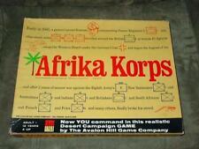 AH Avalon Hill - AFRIKA KORPS game - Rommel's Desert War 1941-?  (PUNCHED)