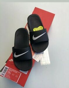 Nike Kawa Slide slider sandals kids Black & White uk mixed sizes (S1)