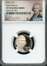 2021 S Jefferson Nickel Early Releases NGC PF70 Ultra Cameo (Portrait)