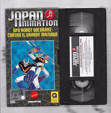 VHS - UFO ROBOT GOLDRAKE CONTRO IL GRANDE MAZINGA - JAPAN ANIMATION  DE AGOSTINI