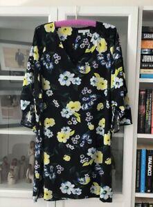 Veronika Maine Floral Shift Dress - Size 16