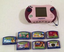 LeapFrog Leapster 2 Game System 7 Games UP Tangled Ratatouille Dora Princess HTF