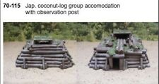 MGM 070-115 1/72 Resin WWII Japanese Log Group Accomodation w/Observation Post