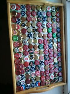 145 USED MIXED BEER CIDER ALE BOTTLE CAPS CRAFTING MAN Cave Used
