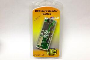 Bilora USD Card Reader / Kartenleser Neuware SD / CF Karten 3x USB