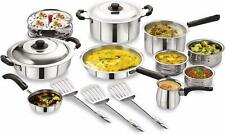 Lifestyle 15-Piece Stainless Steel Cookware Set, Silver Stylish Cookware