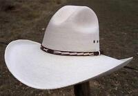 "NEW Summit Hats QUALITY SAHUAYO Palm GUS Straw Western Cowboy Hat 4"" brim"