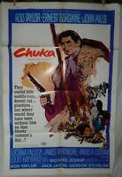 1 Vintage One Sheet Movie Poster for Chuka, 1967, Rod Taylor, Ernest Borgnine