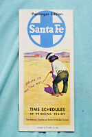 Santa Fe Time Table Jan. 15 to April 30, 1961