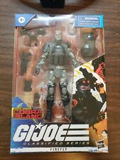 gi joe classified firefly with extra backpack and weapons.