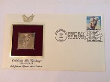 1998 TELEPHONE SPANS NATION 22kt Gold Golden Replica First Cover Stamp FDC FDI
