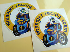 WRANGLER RACING TEAM Motorcycle Fairing Stickers Decals 2 off 80mm