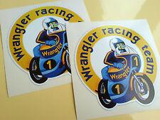 WRANGLER RACING TEAM Motorcycle Fairing Stickers Decals 2 off 80mm