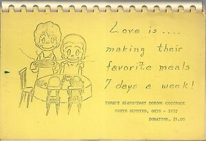 NORTH OLMSTED OH 1972 FOREST ELEMENTARY SCHOOL COOK BOOK * LOVE IS OHIO RECIPES