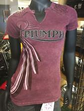 Triumph David UHL Women's Feathered T-Shirt Medium FREE SHIPPING IN U.S.!