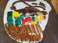 Lincoln Logs Western Express Train Set Huge Lot 313 pieces figures Building Toys