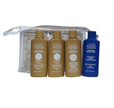 Nisim Hair Loss Survival Travel Kit Normal to Oily Hair 4 Piece 2oz Ea
