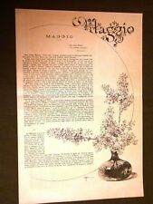 Maggio 1886 Illustrazione di Sezanne e versi di Abdon Altobelli