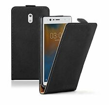 SLIM BLACK Nokia 3 Leather Flip Case Cover  For Mobile Phone