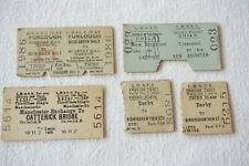 More details for london midland & southern region gwr gcr joint railway ticket x5